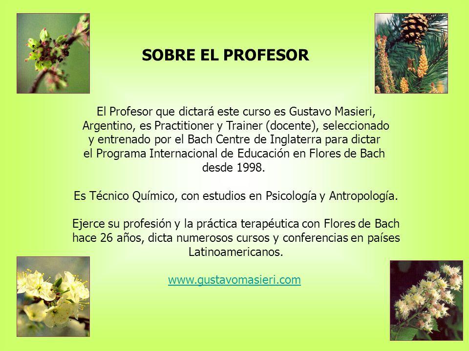 SOBRE EL PROFESOR El Profesor que dictará este curso es Gustavo Masieri, Argentino, es Practitioner y Trainer (docente), seleccionado.