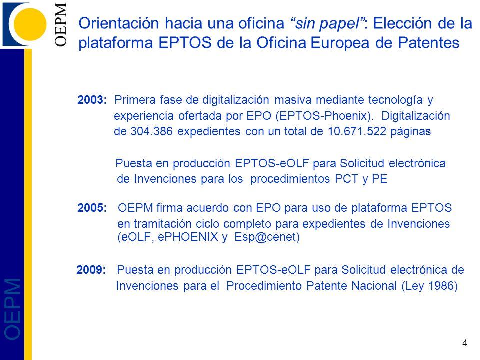 Orientación hacia una oficina sin papel : Elección de la plataforma EPTOS de la Oficina Europea de Patentes