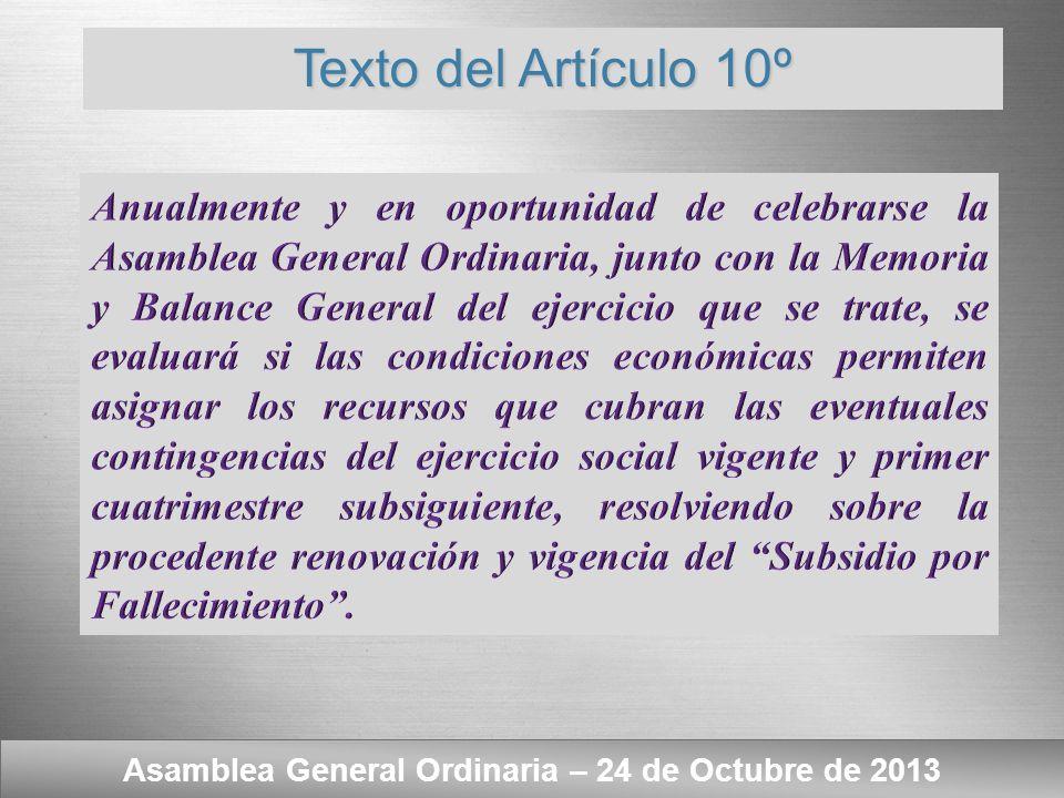 Asamblea General Ordinaria – 24 de Octubre de 2013