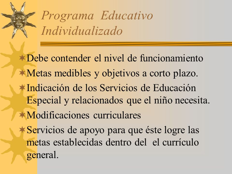 Programa Educativo Individualizado