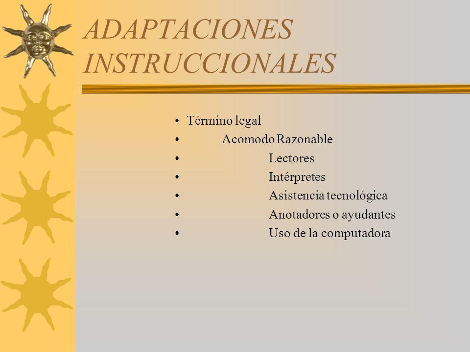 ADAPTACIONES INSTRUCCIONALES