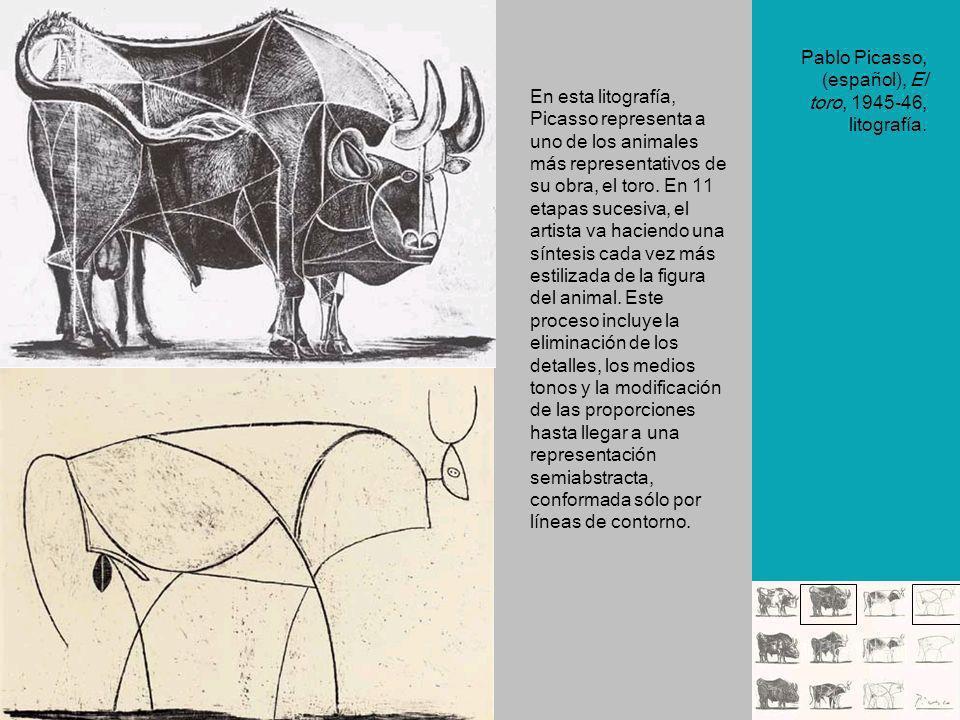 Pablo Picasso, (español), El toro, 1945-46, litografía.