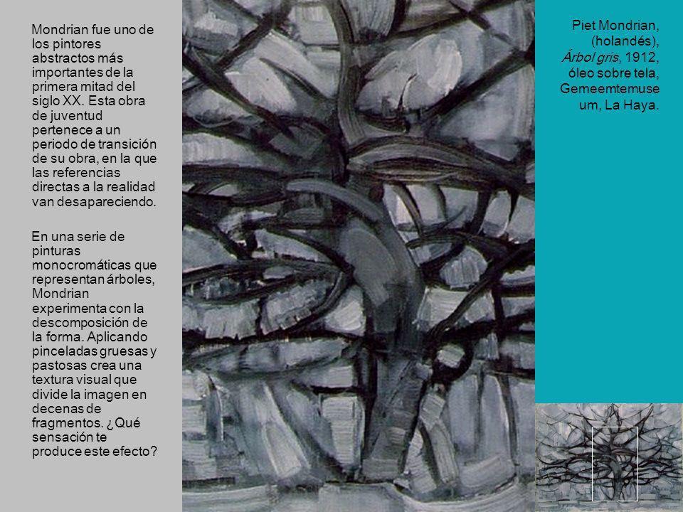 Mondrian fue uno de los pintores abstractos más importantes de la primera mitad del siglo XX. Esta obra de juventud pertenece a un periodo de transición de su obra, en la que las referencias directas a la realidad van desapareciendo.