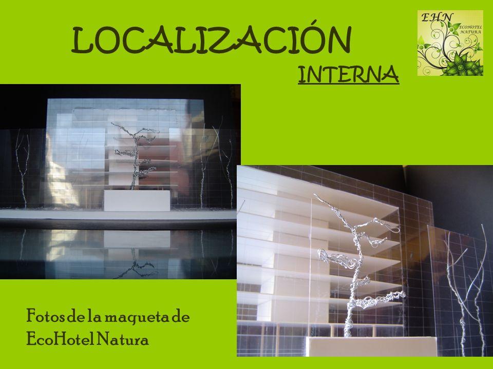 LOCALIZACIÓN INTERNA Fotos de la maqueta de EcoHotel Natura