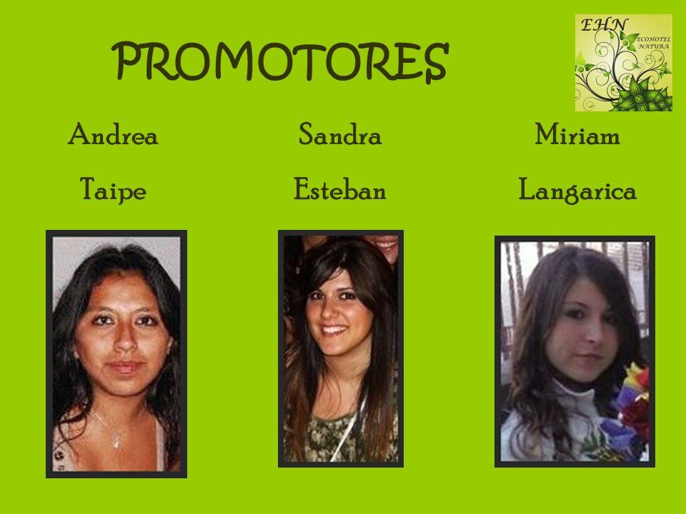 PROMOTORES Andrea Taipe Sandra Esteban Miriam Langarica