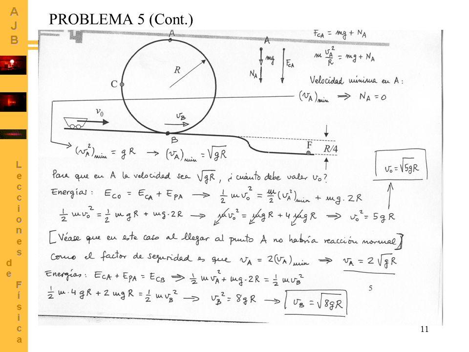 PROBLEMA 5 (Cont.) R C vB F R/4