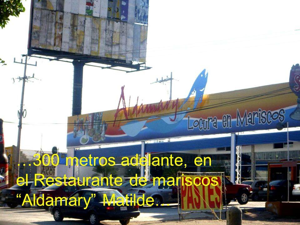 …300 metros adelante, en el Restaurante de mariscos Aldamary Matilde…