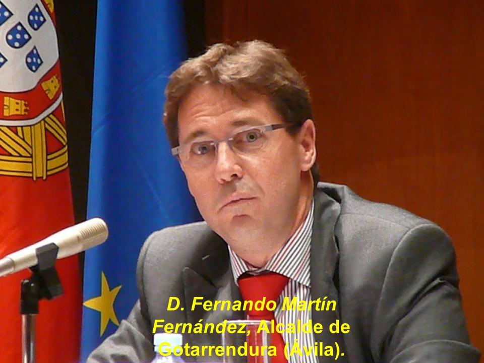 D. Fernando Martín Fernández, Alcalde de Gotarrendura (Ávila).