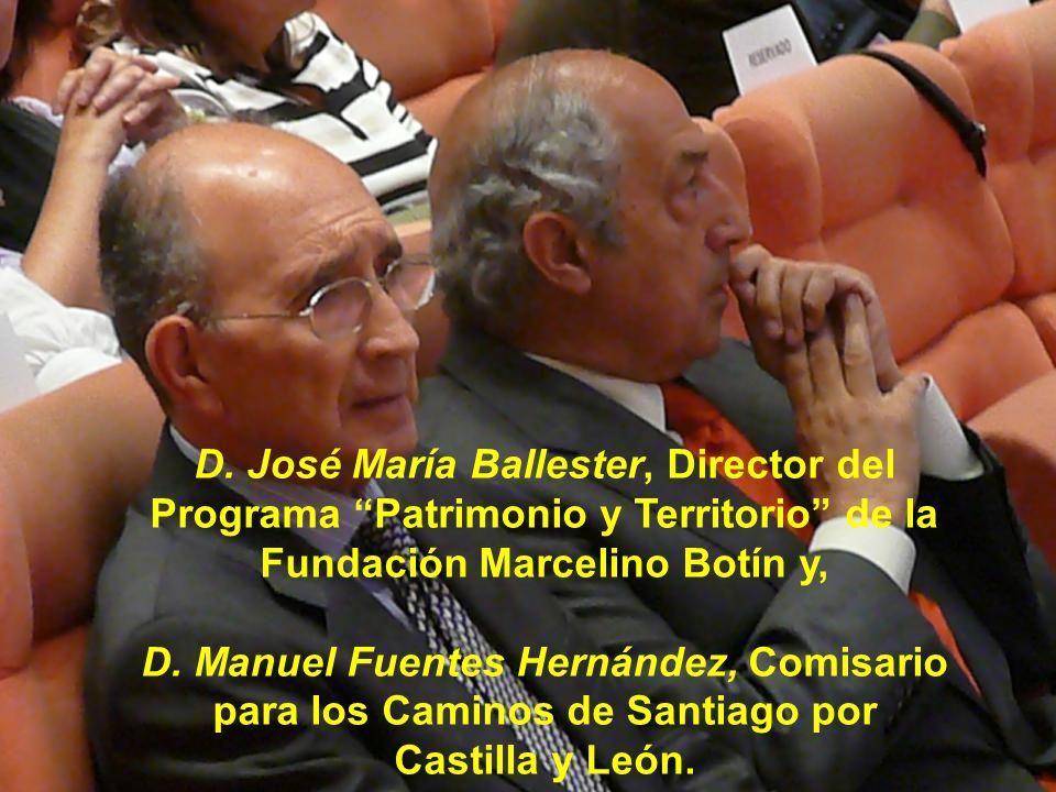 D. José María Ballester, Director del Programa Patrimonio y Territorio de la Fundación Marcelino Botín y,