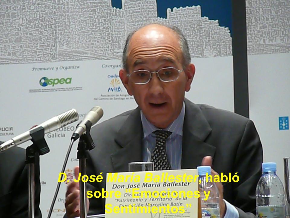 D. José María Ballester, habló sobre Emociones y Sentimientos