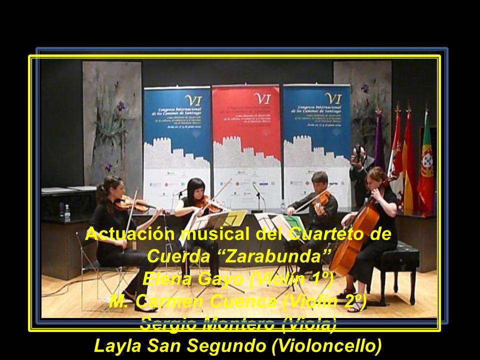 Actuación musical del Cuarteto de Cuerda Zarabunda