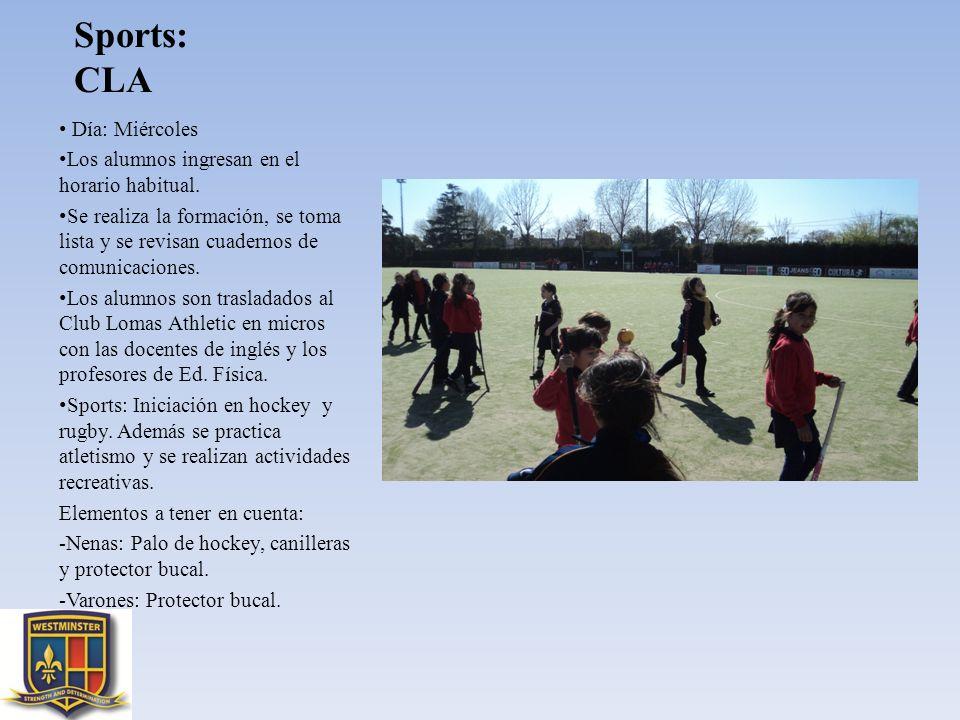 Sports: CLA Día: Miércoles