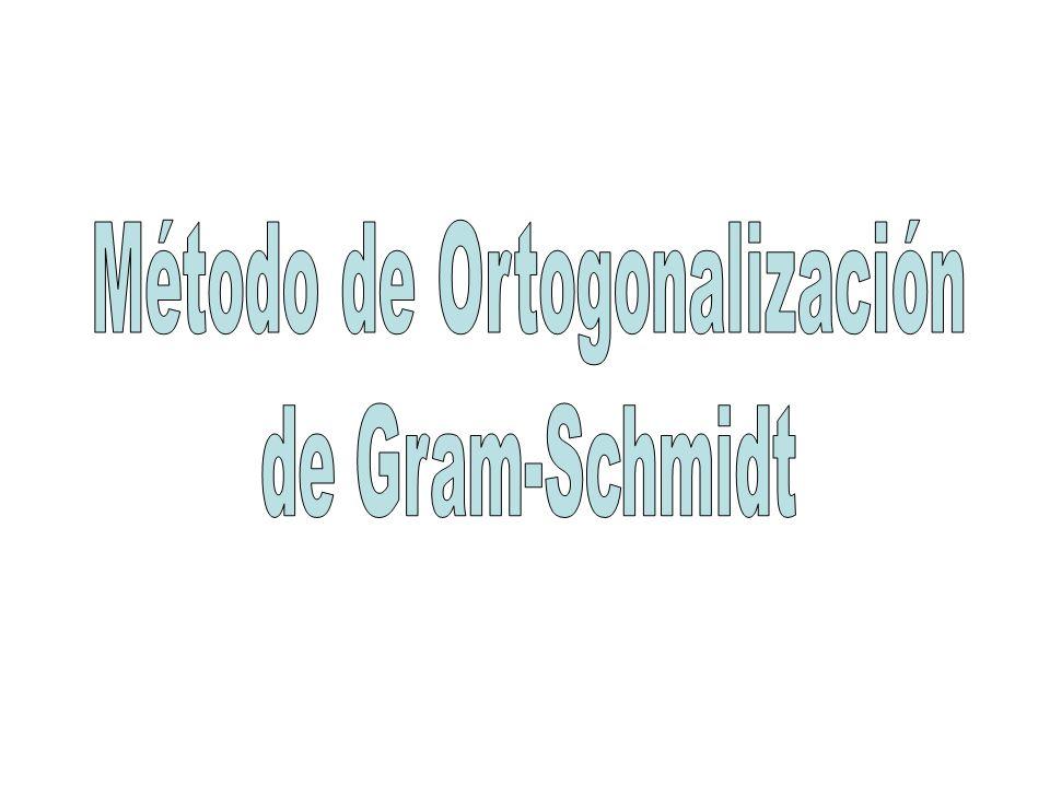 Método de Ortogonalización