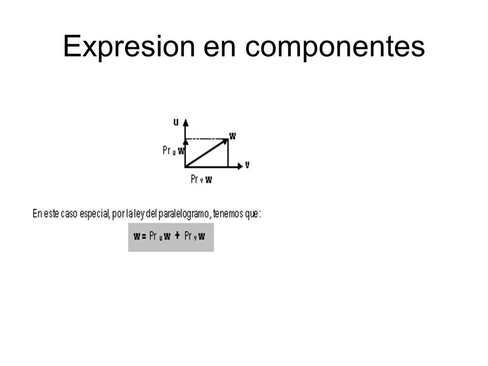 Expresion en componentes