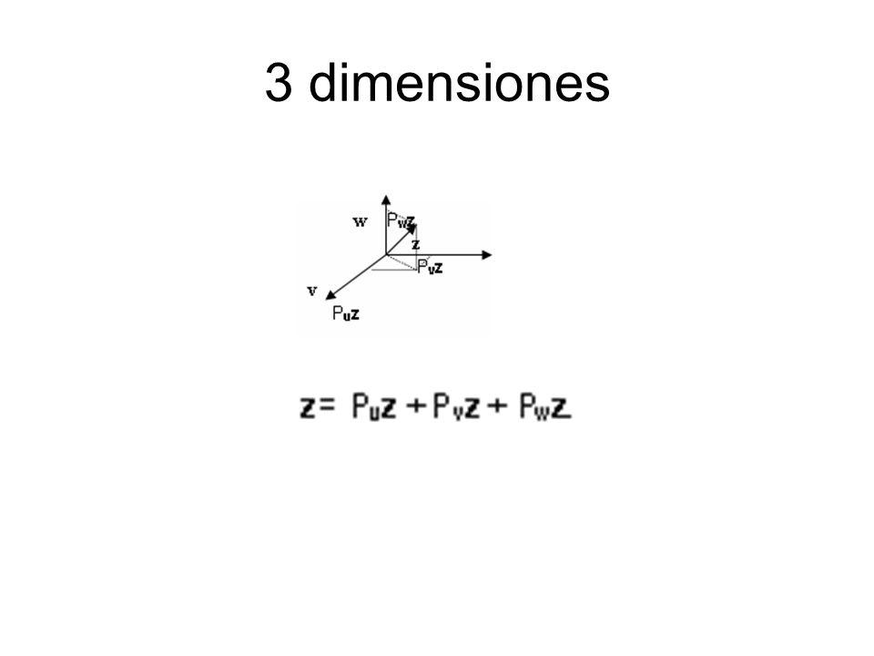 3 dimensiones