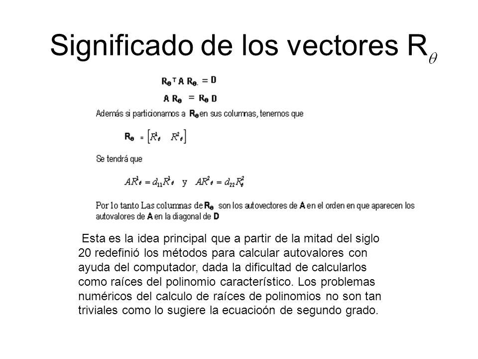 Significado de los vectores R