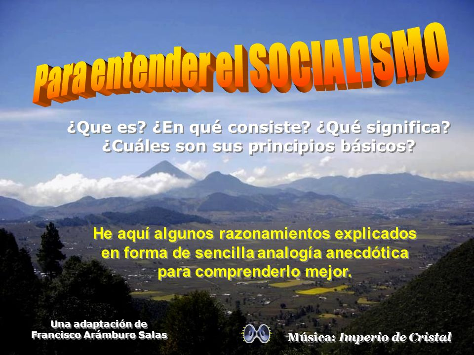 Para entender el SOCIALISMO