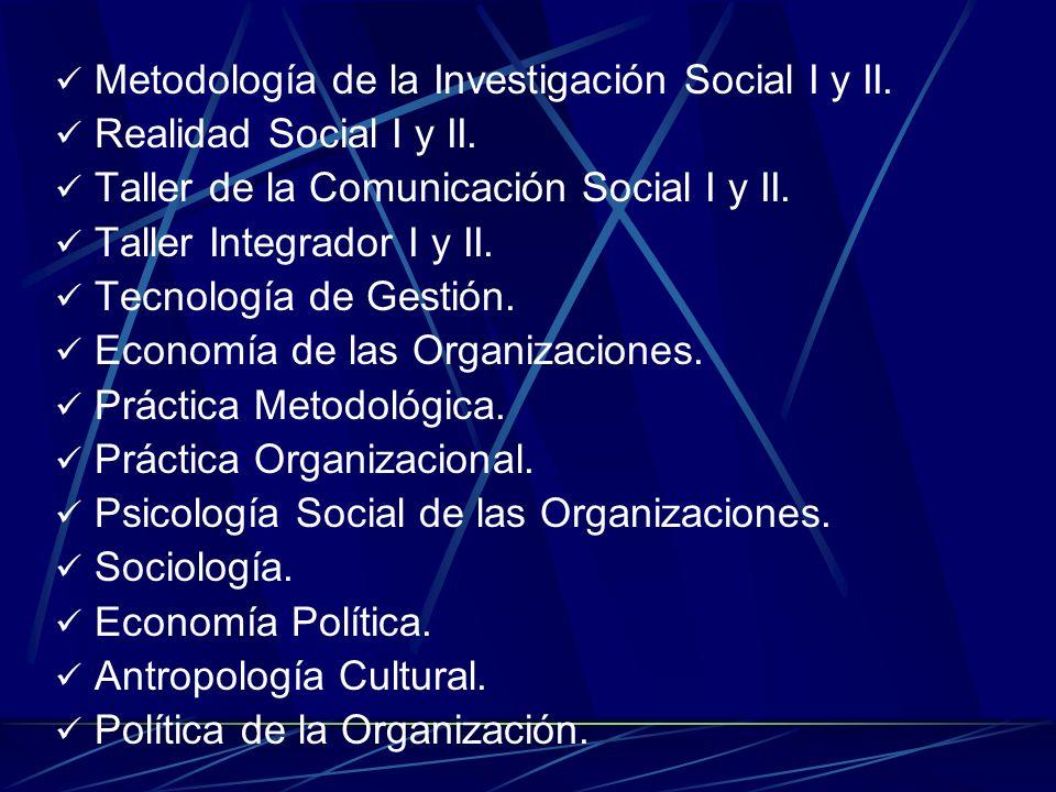 Metodología de la Investigación Social I y II.