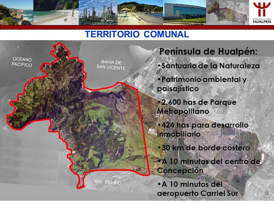 TERRITORIO COMUNAL Península de Hualpén: Santuario de la Naturaleza