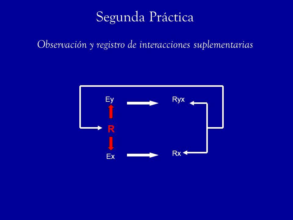 Observación y registro de interacciones suplementarias