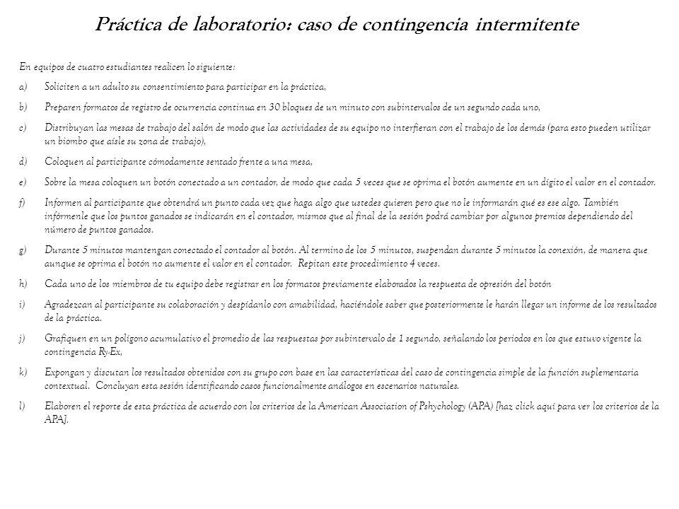 Práctica de laboratorio: caso de contingencia intermitente