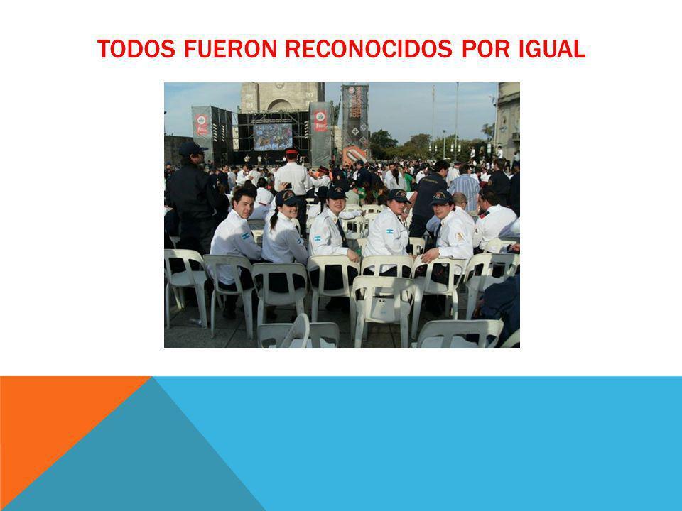 TODOS FUERON RECONOCIDOS POR IGUAL