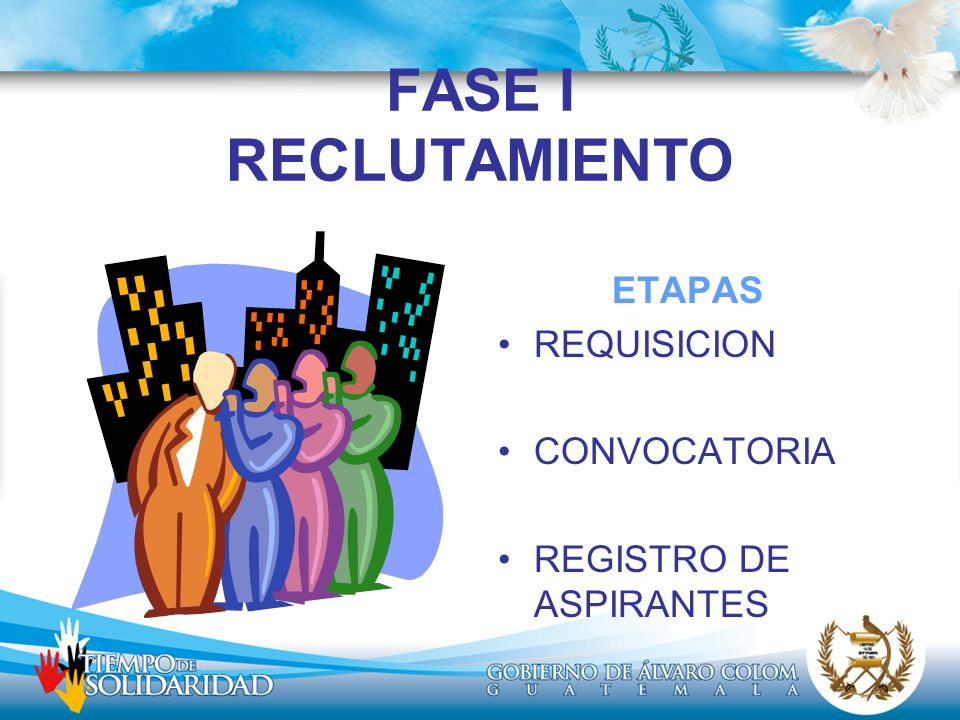 FASE I RECLUTAMIENTO ETAPAS REQUISICION CONVOCATORIA