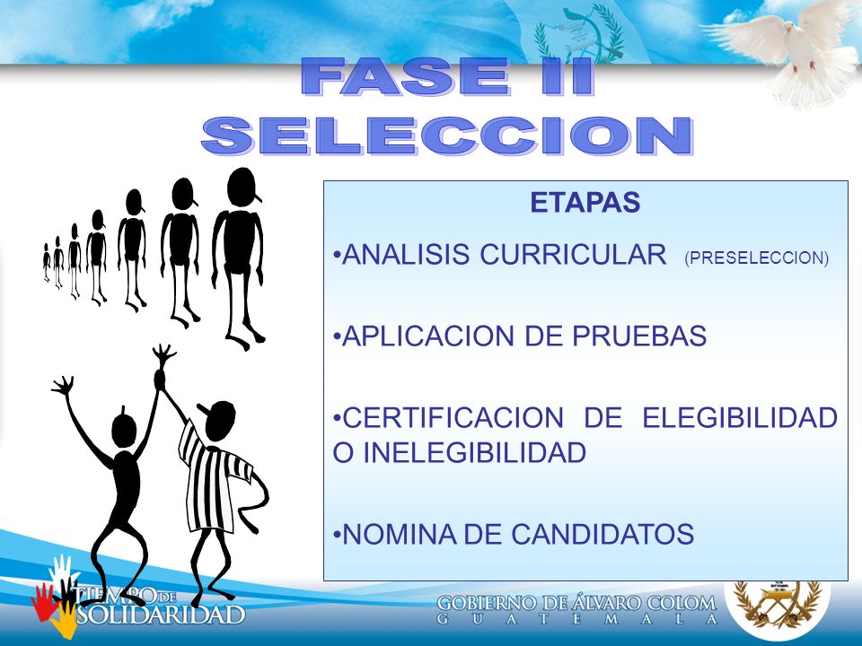 FASE II SELECCION ETAPAS ANALISIS CURRICULAR (PRESELECCION)