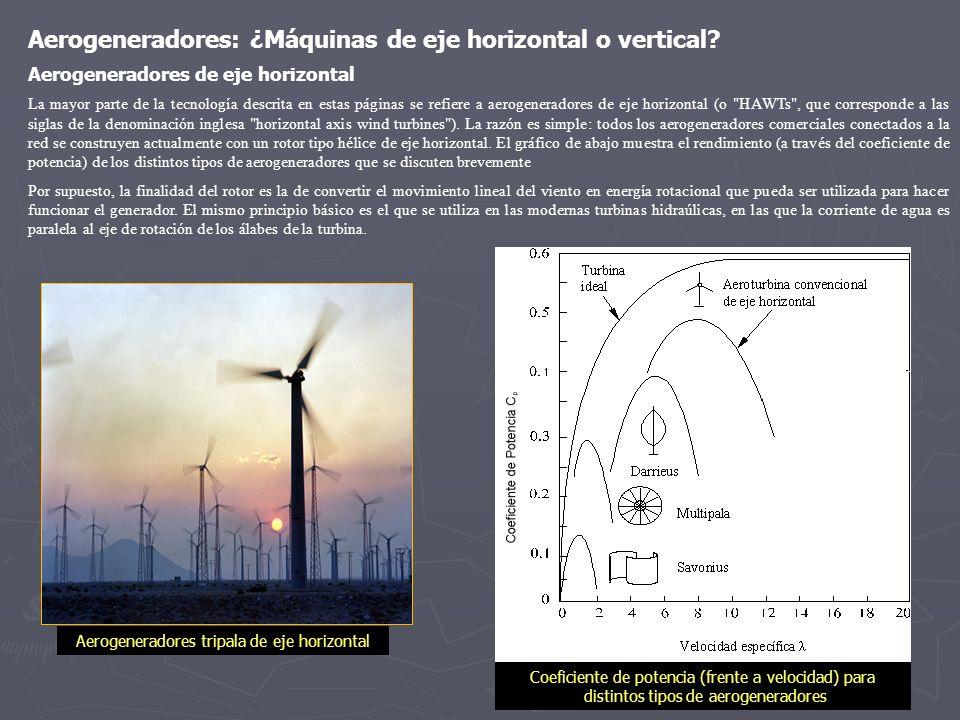 Aerogeneradores: ¿Máquinas de eje horizontal o vertical