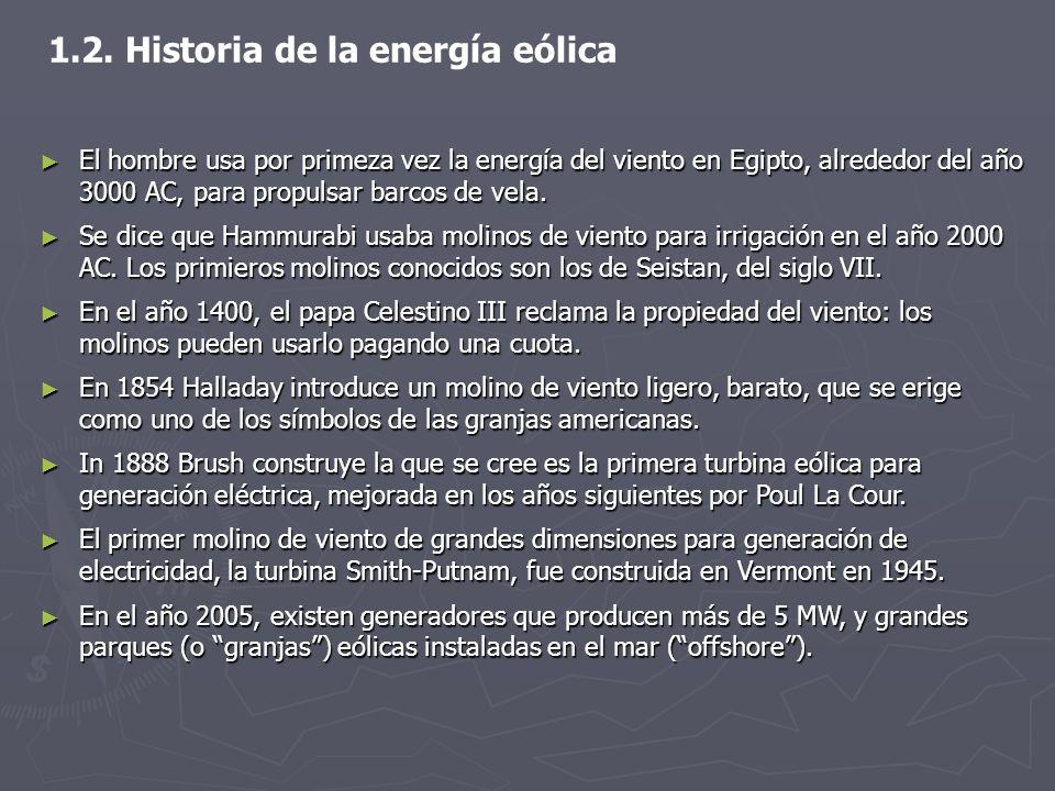 1.2. Historia de la energía eólica