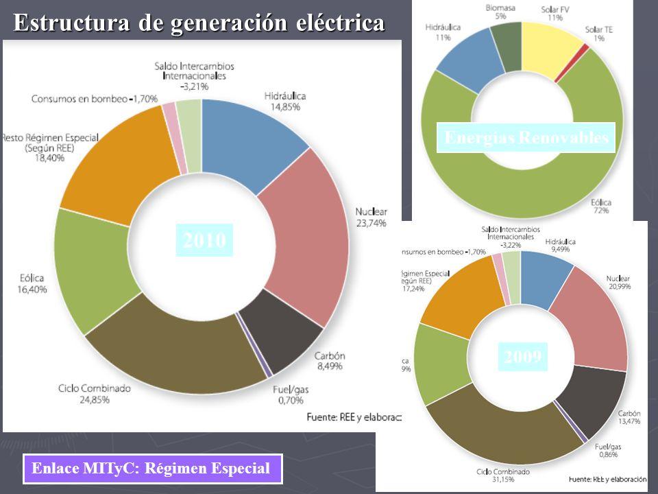 Estructura de generación eléctrica Enlace MITyC: Régimen Especial