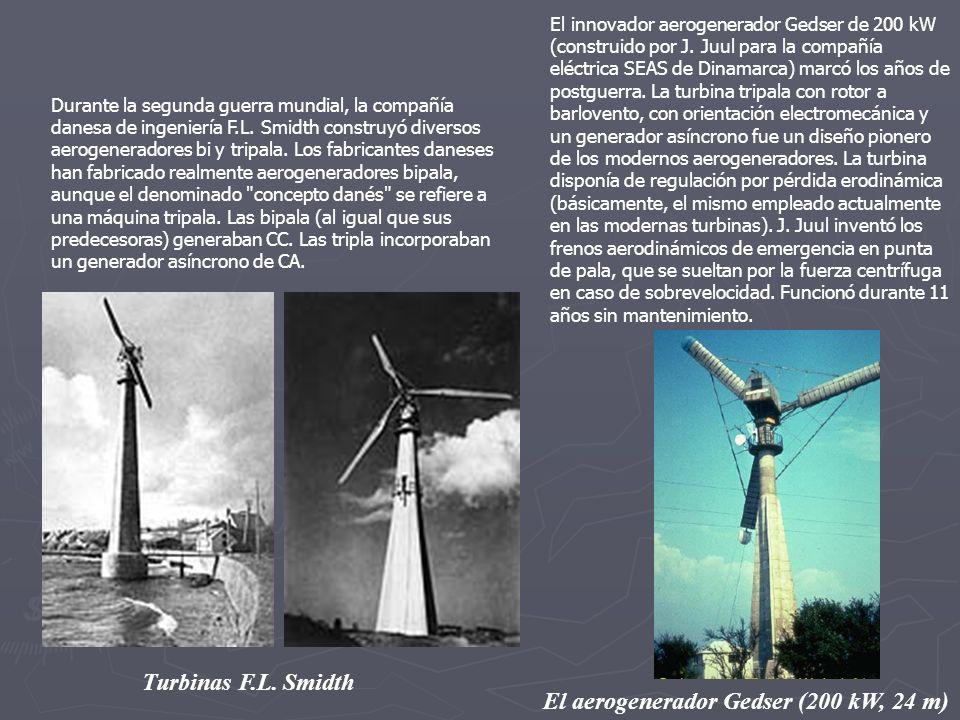 El aerogenerador Gedser (200 kW, 24 m)