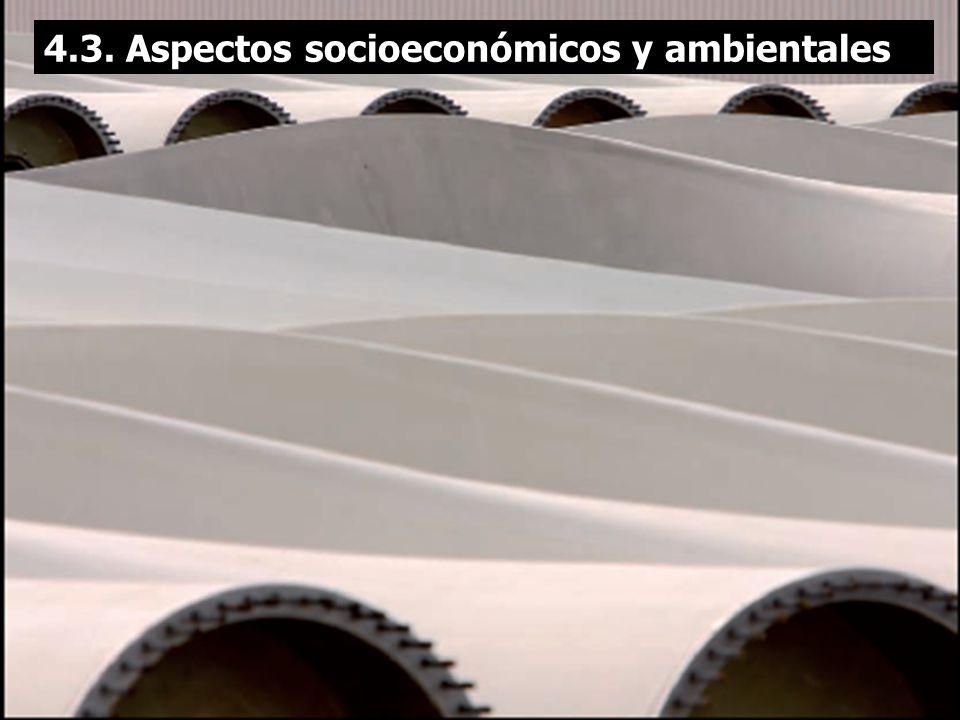 4.3. Aspectos socioeconómicos y ambientales