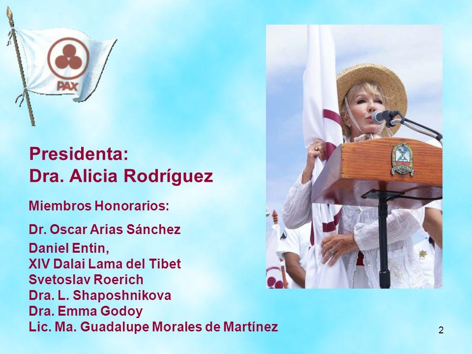 Presidenta: Dra. Alicia Rodríguez Miembros Honorarios: