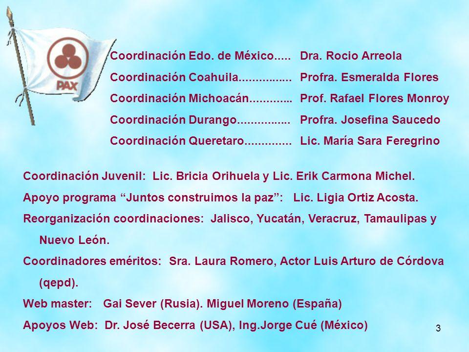 Coordinación Edo. de México.....