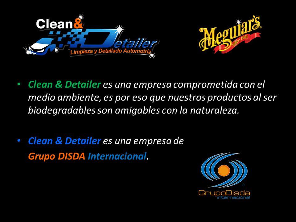 Clean & Detailer es una empresa comprometida con el medio ambiente, es por eso que nuestros productos al ser biodegradables son amigables con la naturaleza.