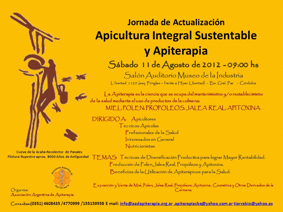 Jornada de Actualización Apicultura Integral Sustentable y Apiterapia