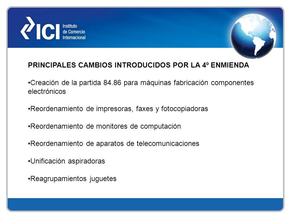 PRINCIPALES CAMBIOS INTRODUCIDOS POR LA 4º ENMIENDA