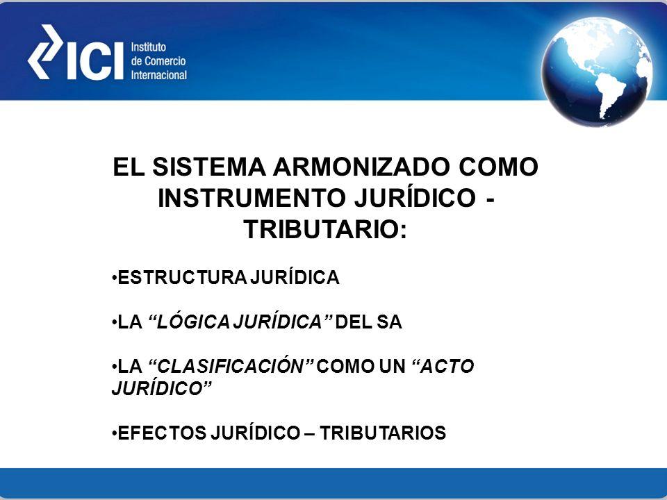 EL SISTEMA ARMONIZADO COMO INSTRUMENTO JURÍDICO - TRIBUTARIO: