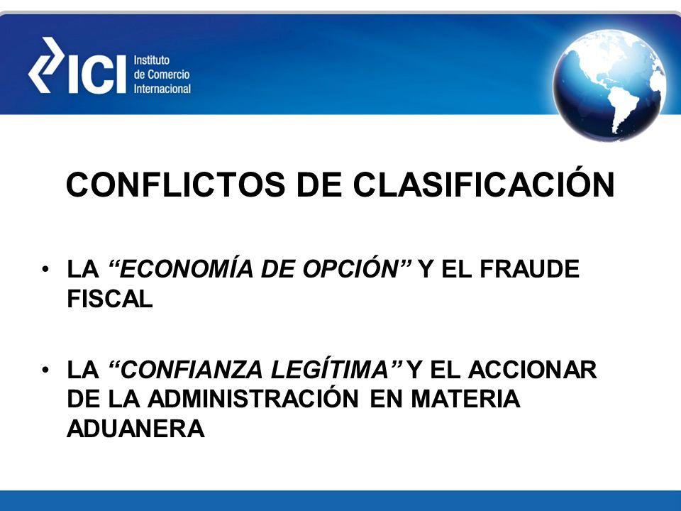 CONFLICTOS DE CLASIFICACIÓN