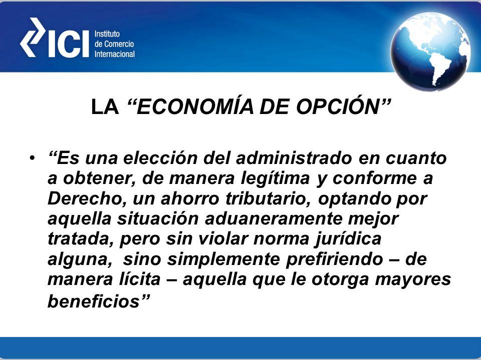 LA ECONOMÍA DE OPCIÓN
