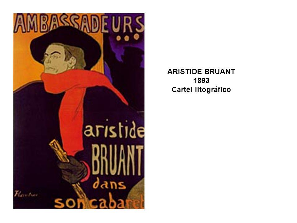 ARISTIDE BRUANT 1893 Cartel litográfico