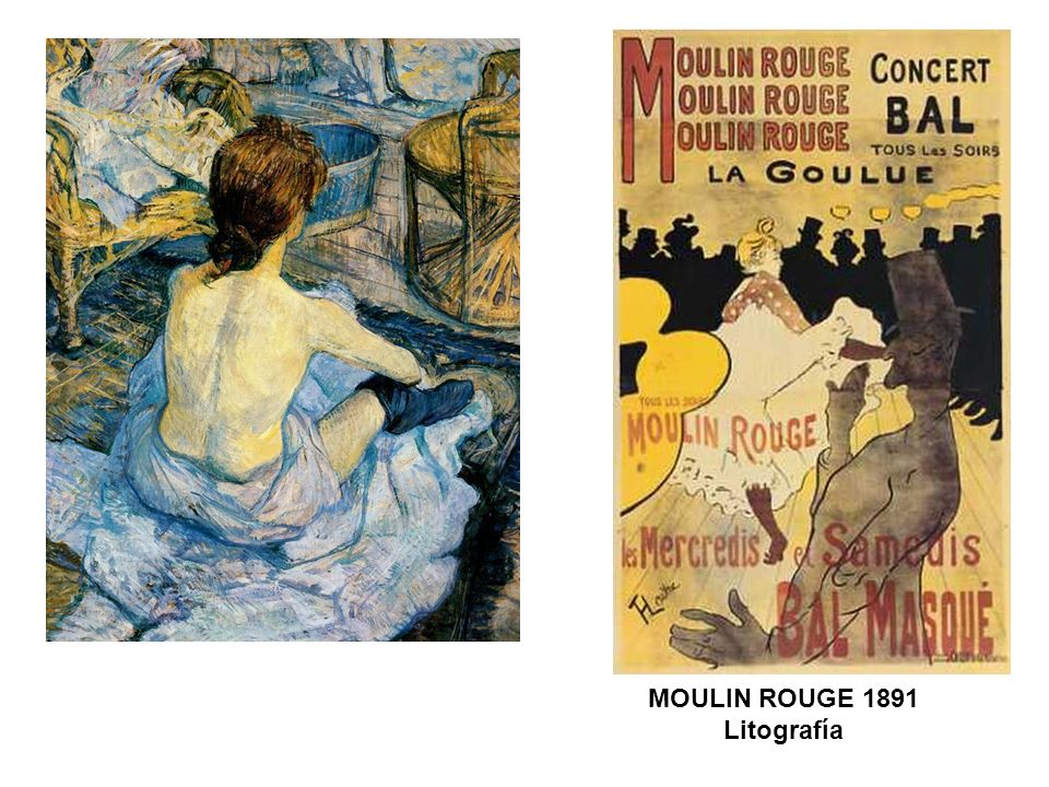 MOULIN ROUGE 1891 Litografía