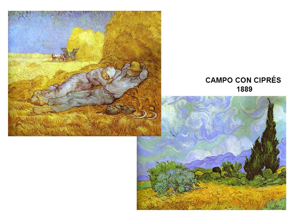CAMPO CON CIPRÉS 1889