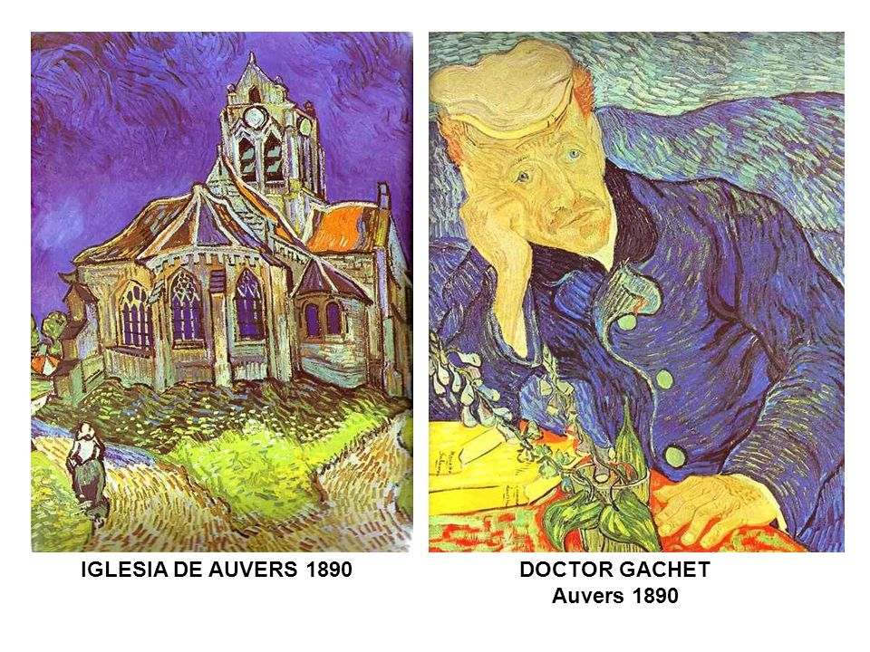 IGLESIA DE AUVERS 1890 DOCTOR GACHET Auvers 1890