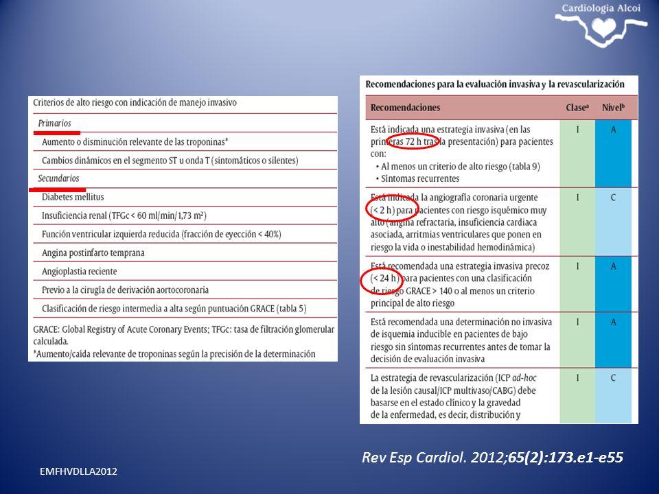 Rev Esp Cardiol. 2012;65(2):173.e1-e55