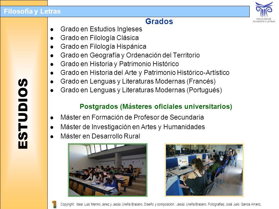 Postgrados (Másteres oficiales universitarios)
