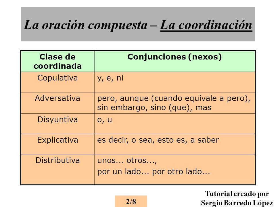 La oración compuesta – La coordinación