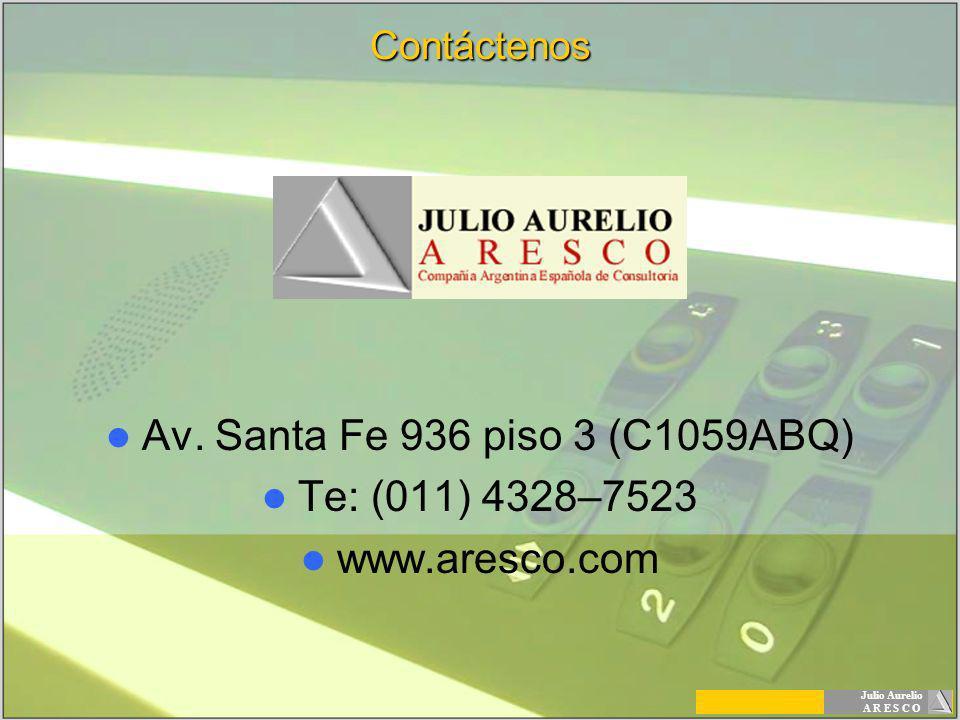 Av. Santa Fe 936 piso 3 (C1059ABQ) Te: (011) 4328–7523 www.aresco.com