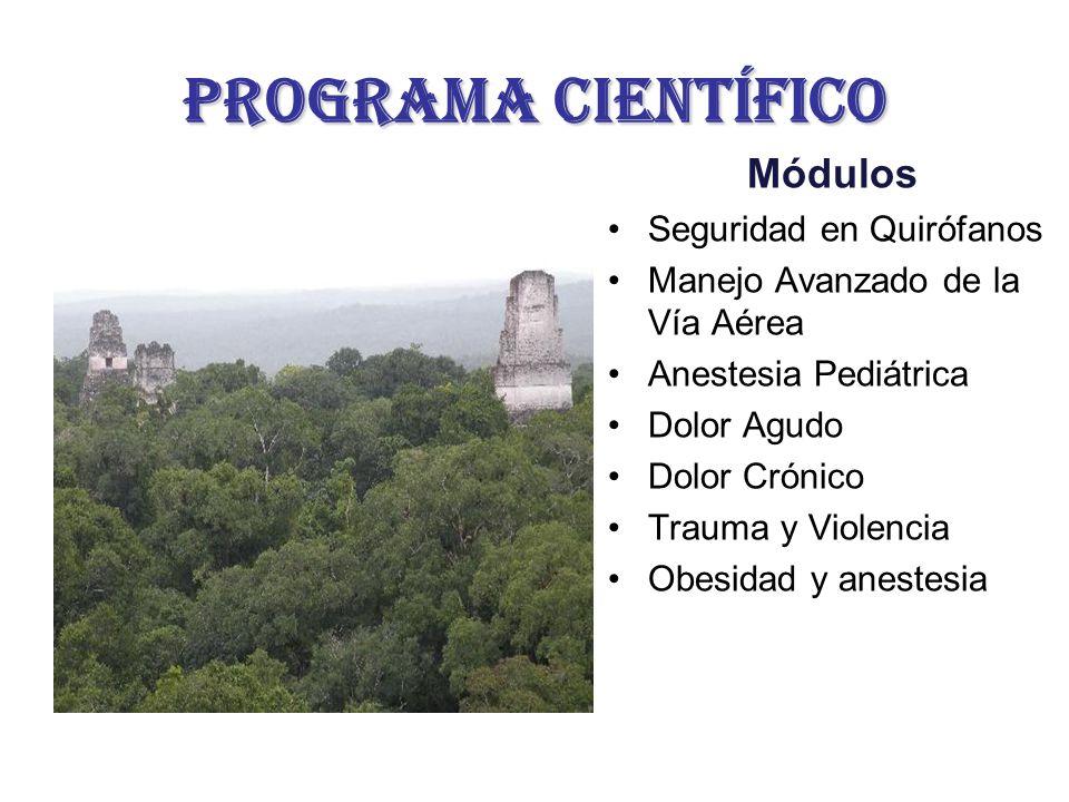 ProgramA CIENTÍFICO Módulos Seguridad en Quirófanos
